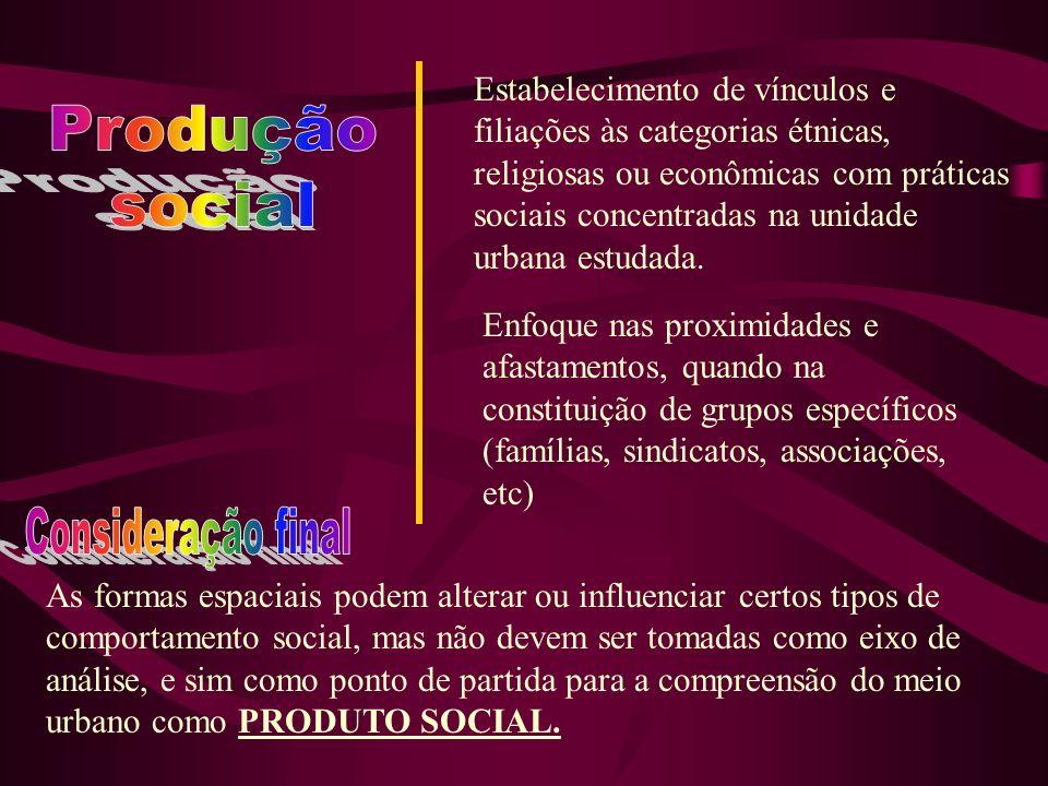 Produção social Consideração final