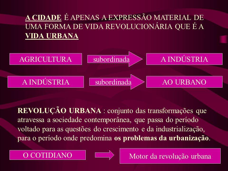 Motor da revolução urbana