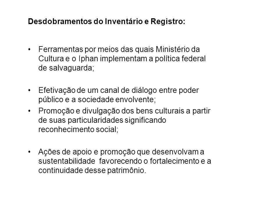 Desdobramentos do Inventário e Registro: