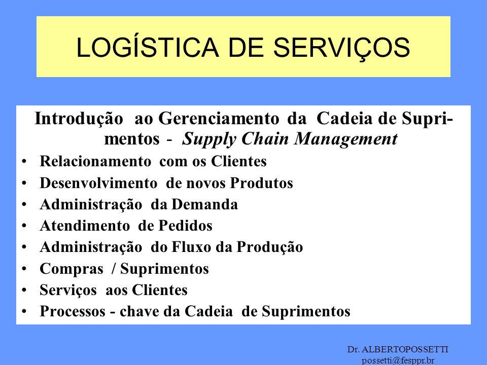 LOGÍSTICA DE SERVIÇOS Introdução ao Gerenciamento da Cadeia de Supri-mentos - Supply Chain Management