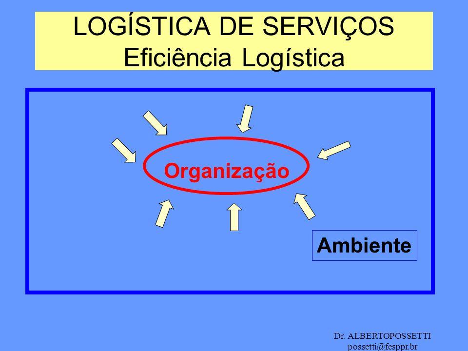 LOGÍSTICA DE SERVIÇOS Eficiência Logística