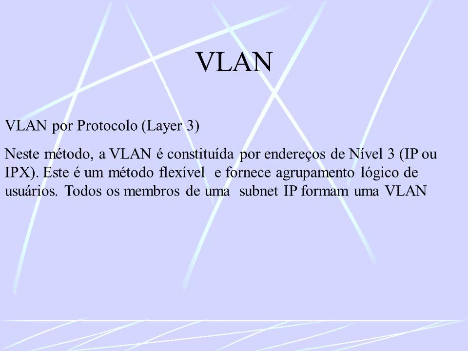 VLAN VLAN por Protocolo (Layer 3)