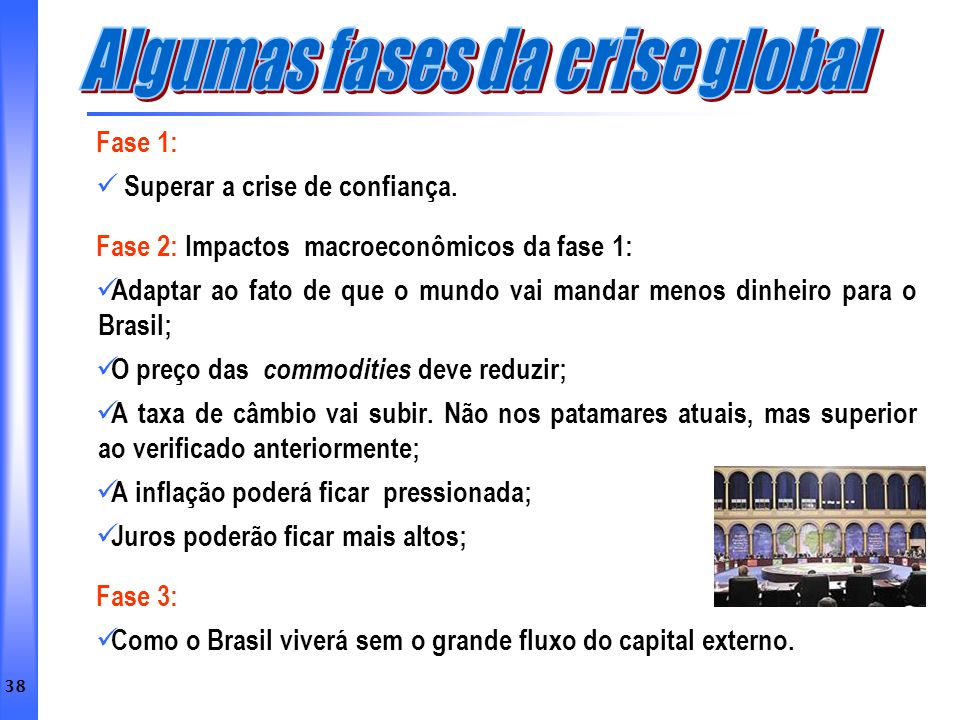 Algumas fases da crise global