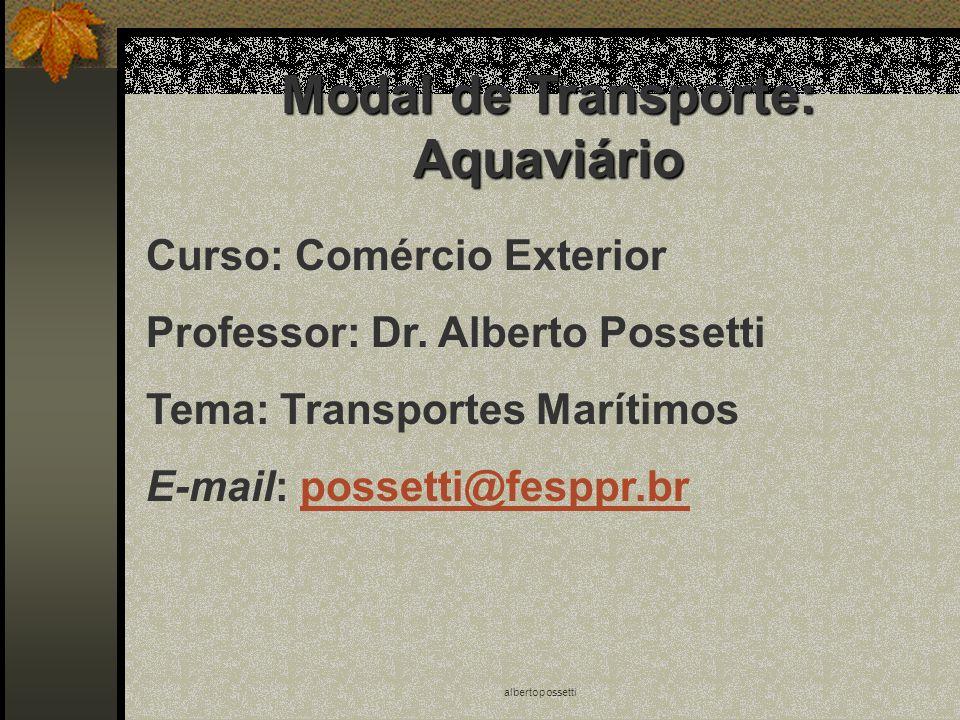 Modal de Transporte: Aquaviário