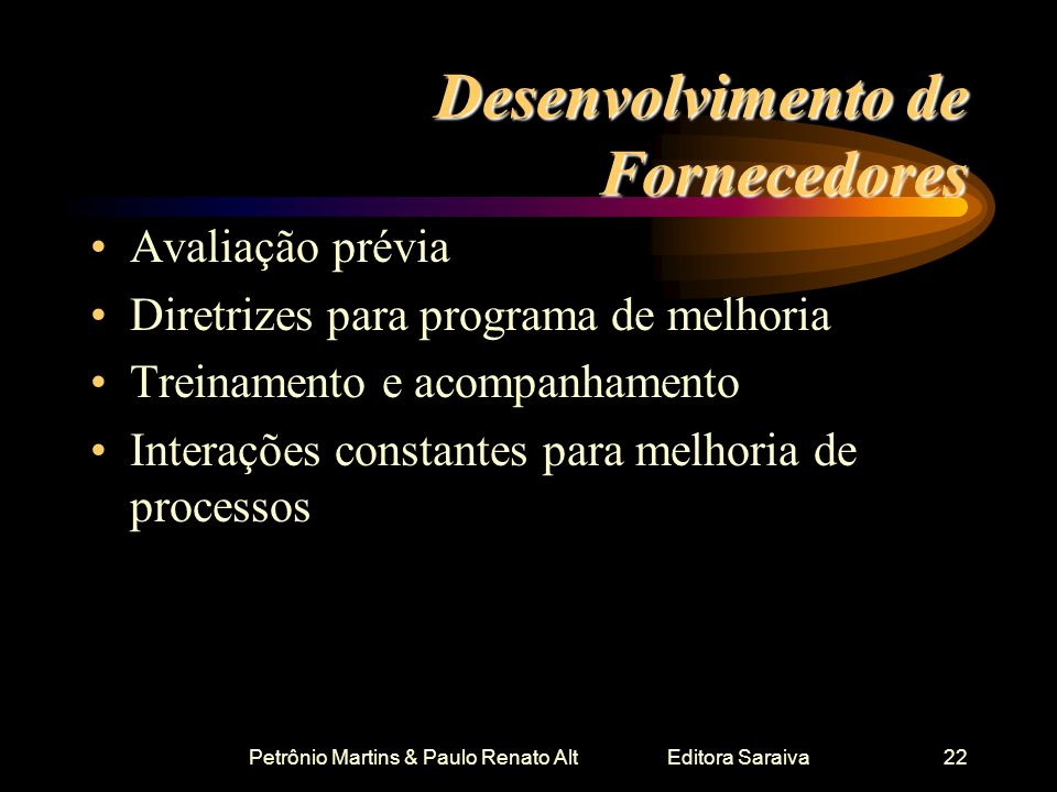 Desenvolvimento de Fornecedores