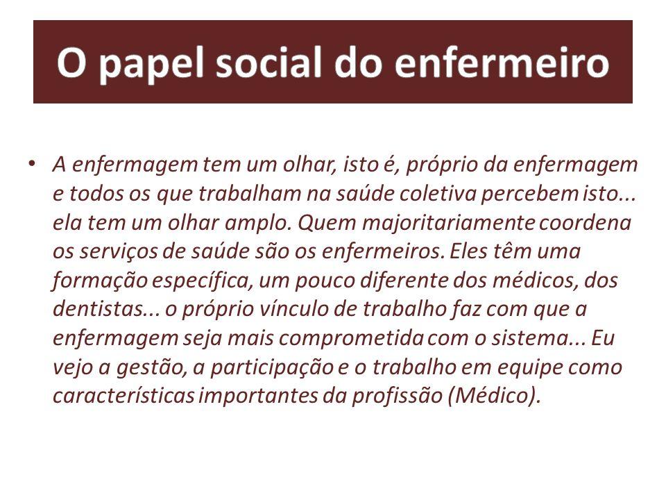 O papel social do enfermeiro