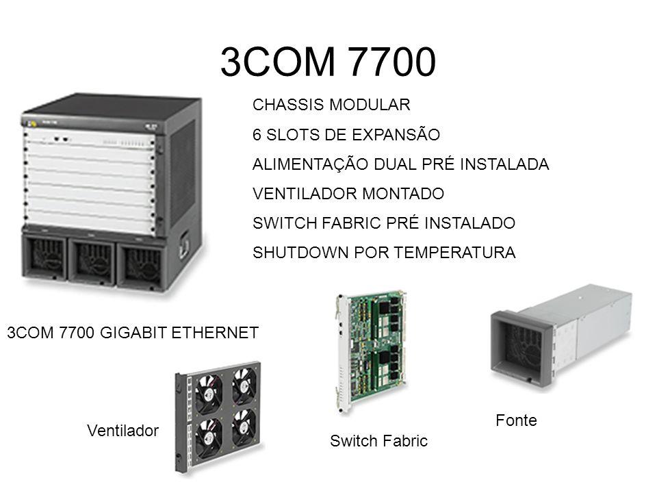 3COM 7700 CHASSIS MODULAR 6 SLOTS DE EXPANSÃO