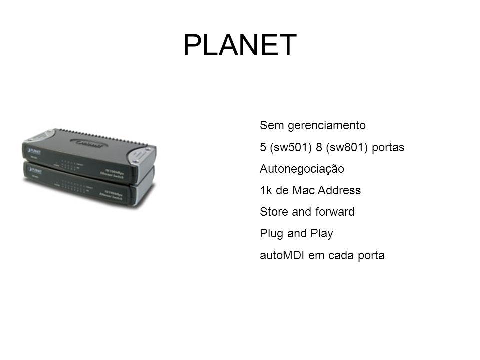 PLANET Sem gerenciamento 5 (sw501) 8 (sw801) portas Autonegociação