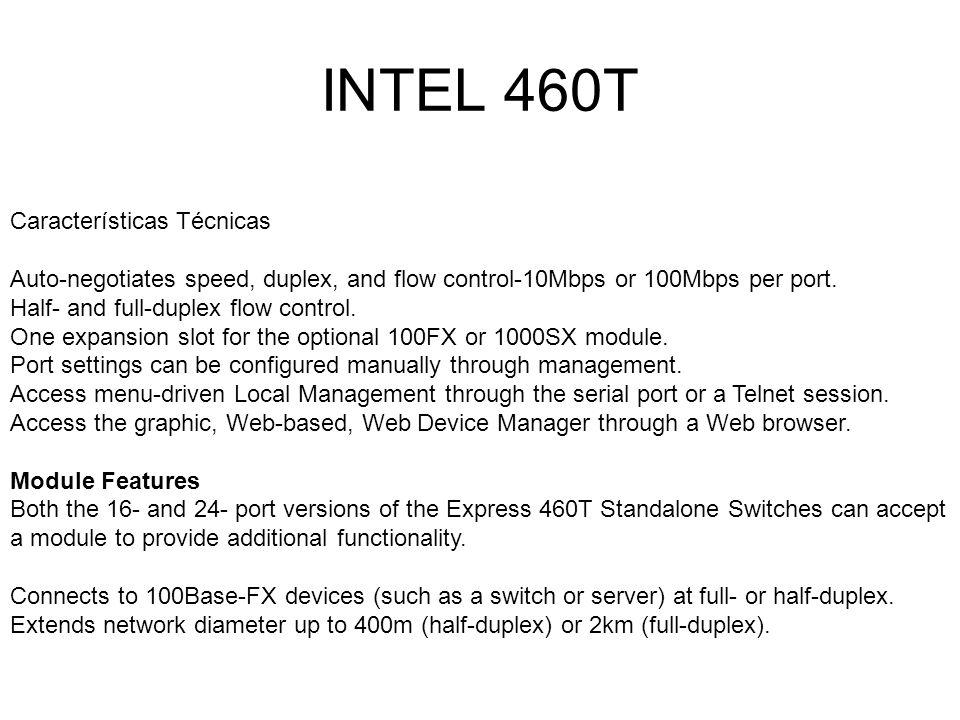 INTEL 460T Características Técnicas