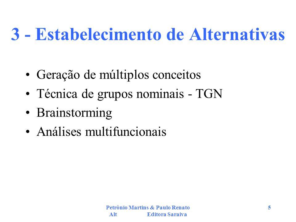 3 - Estabelecimento de Alternativas