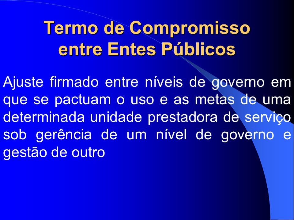 Termo de Compromisso entre Entes Públicos