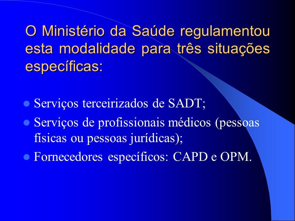 O Ministério da Saúde regulamentou esta modalidade para três situações específicas: