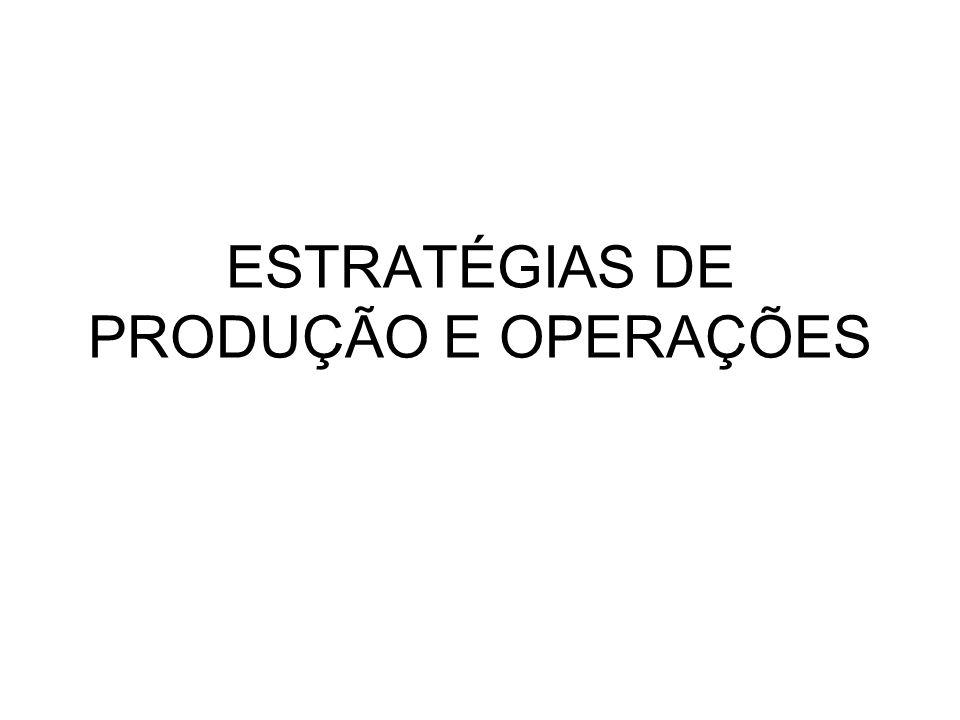 ESTRATÉGIAS DE PRODUÇÃO E OPERAÇÕES
