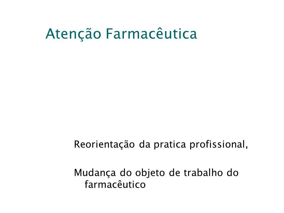 Atenção Farmacêutica Reorientação da pratica profissional,