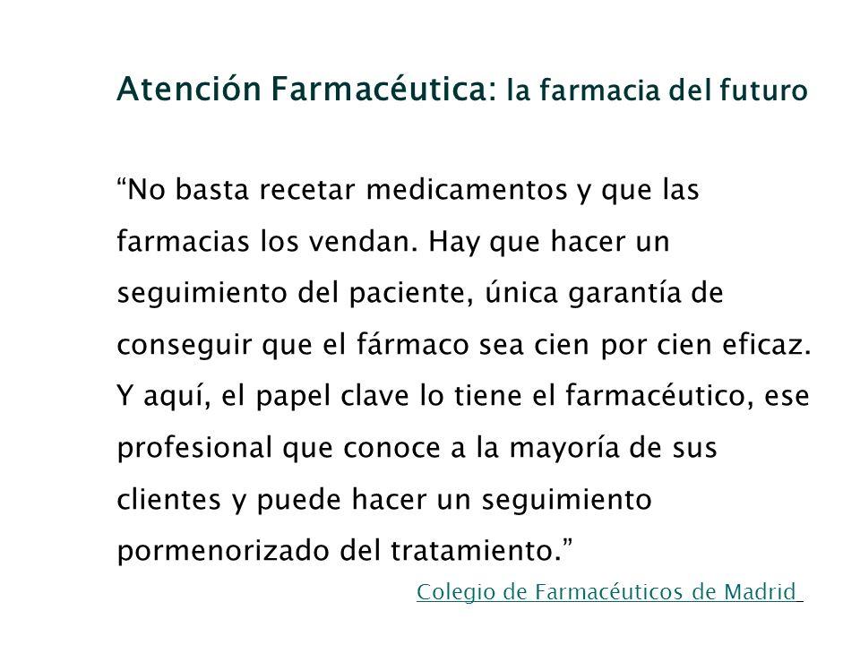 Atención Farmacéutica: la farmacia del futuro
