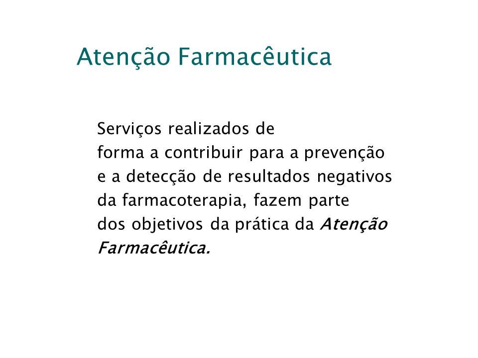 Atenção Farmacêutica Serviços realizados de