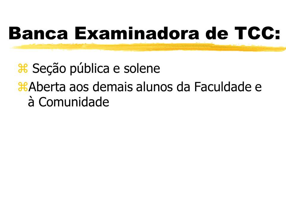 Banca Examinadora de TCC: