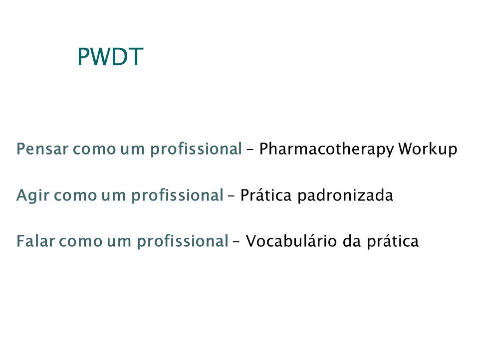 PWDT Pensar como um profissional – Pharmacotherapy Workup