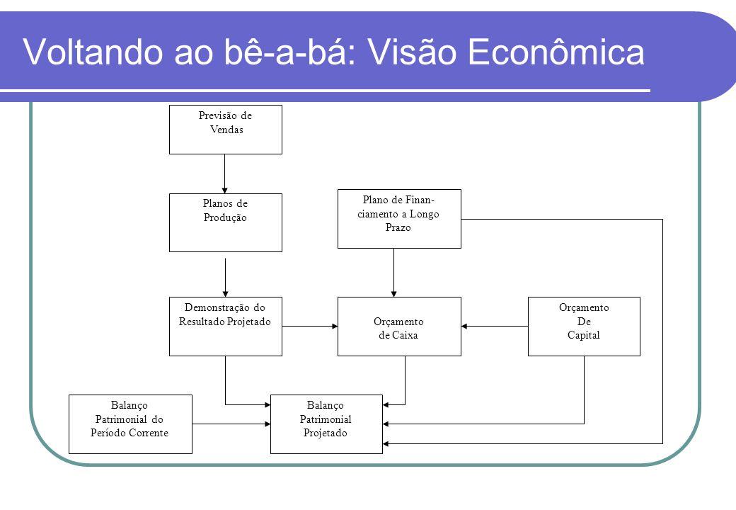 Voltando ao bê-a-bá: Visão Econômica