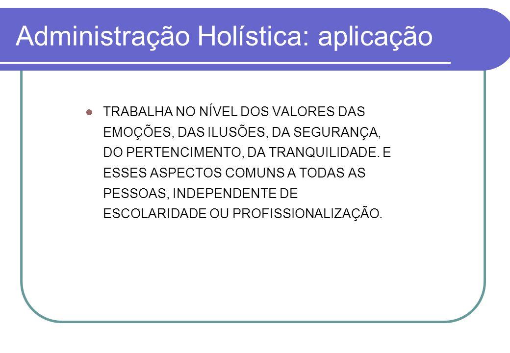 Administração Holística: aplicação