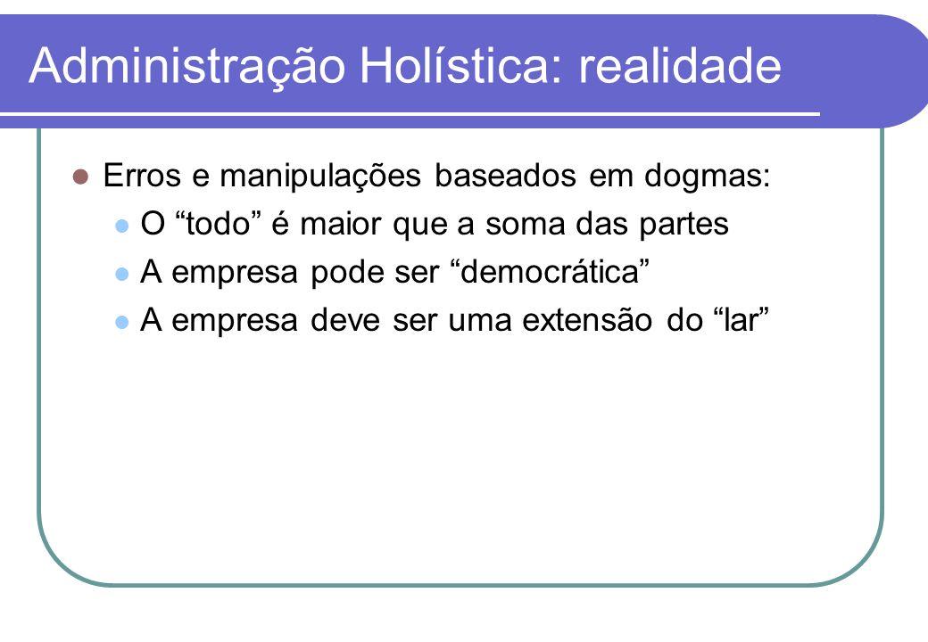 Administração Holística: realidade