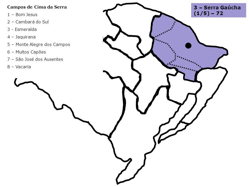 3 – Serra Gaúcha (1/5) – 72 Campos de Cima da Serra 1 – Bom Jesus