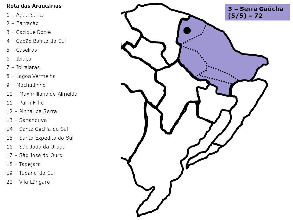 3 – Serra Gaúcha (5/5) – 72 Rota das Araucárias 1 – Água Santa