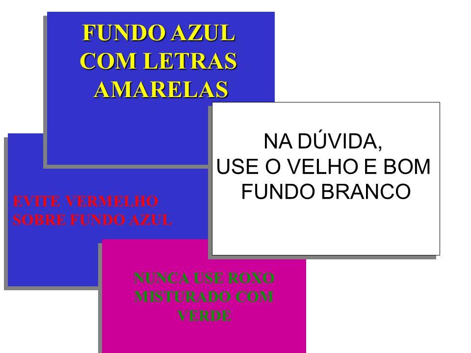 FUNDO AZUL COM LETRAS AMARELAS