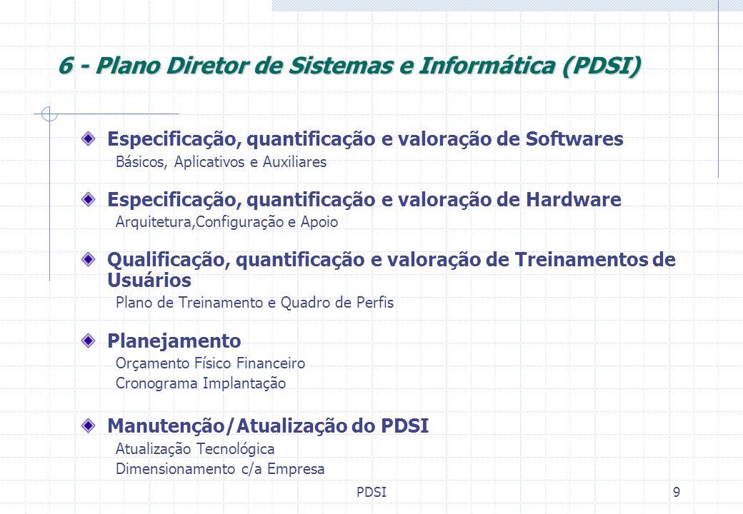 6 - Plano Diretor de Sistemas e Informática (PDSI)
