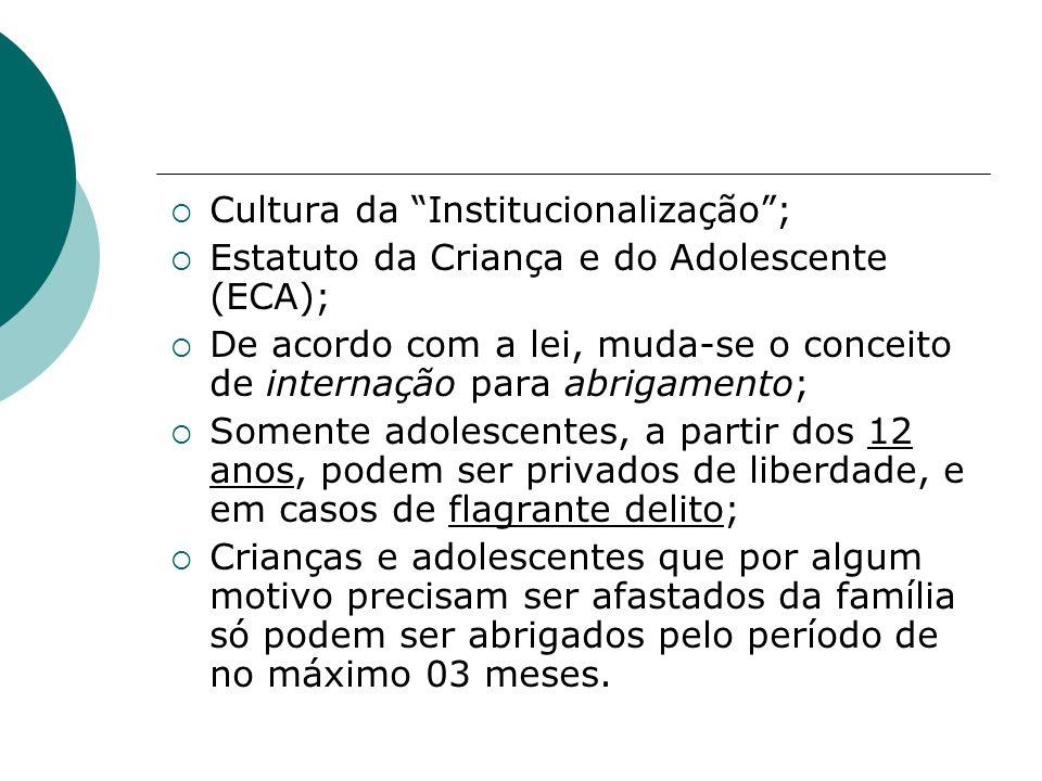 Cultura da Institucionalização ;