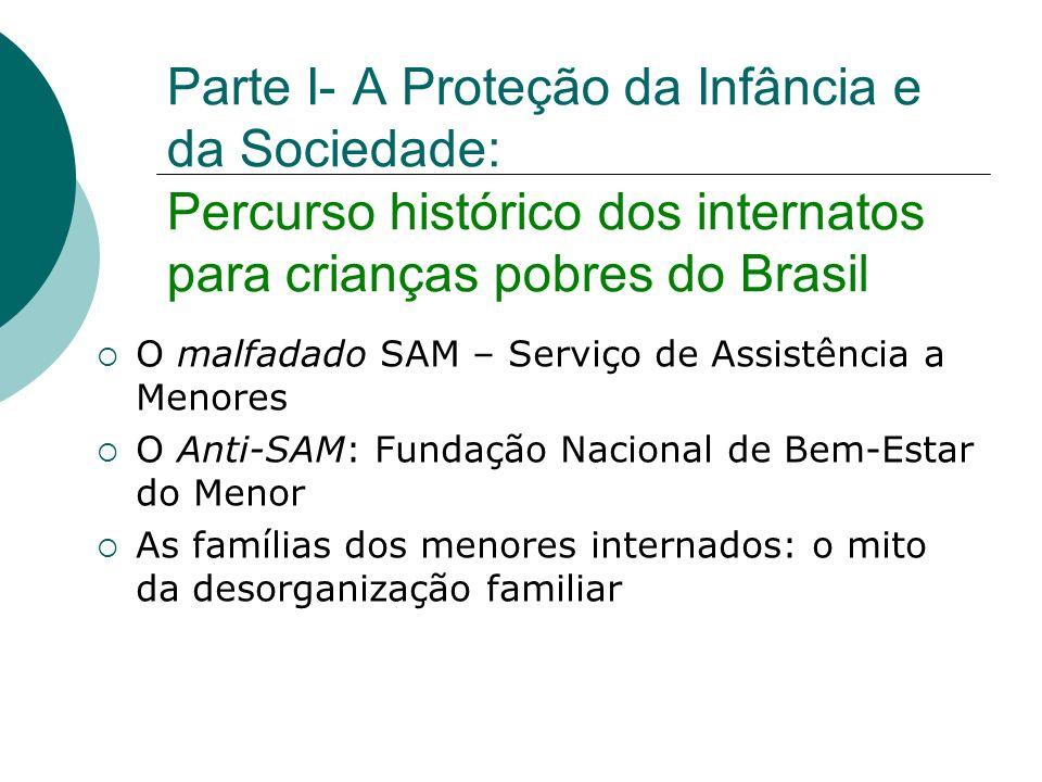 Parte I- A Proteção da Infância e da Sociedade: Percurso histórico dos internatos para crianças pobres do Brasil