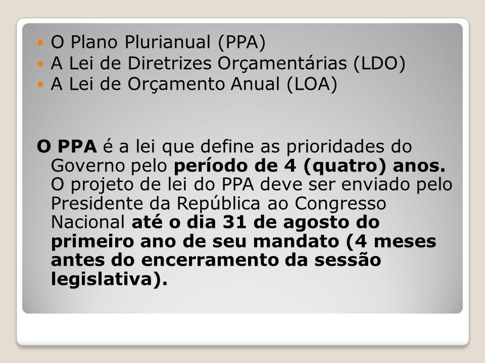 O Plano Plurianual (PPA)