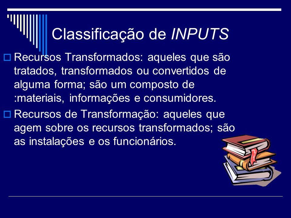 Classificação de INPUTS