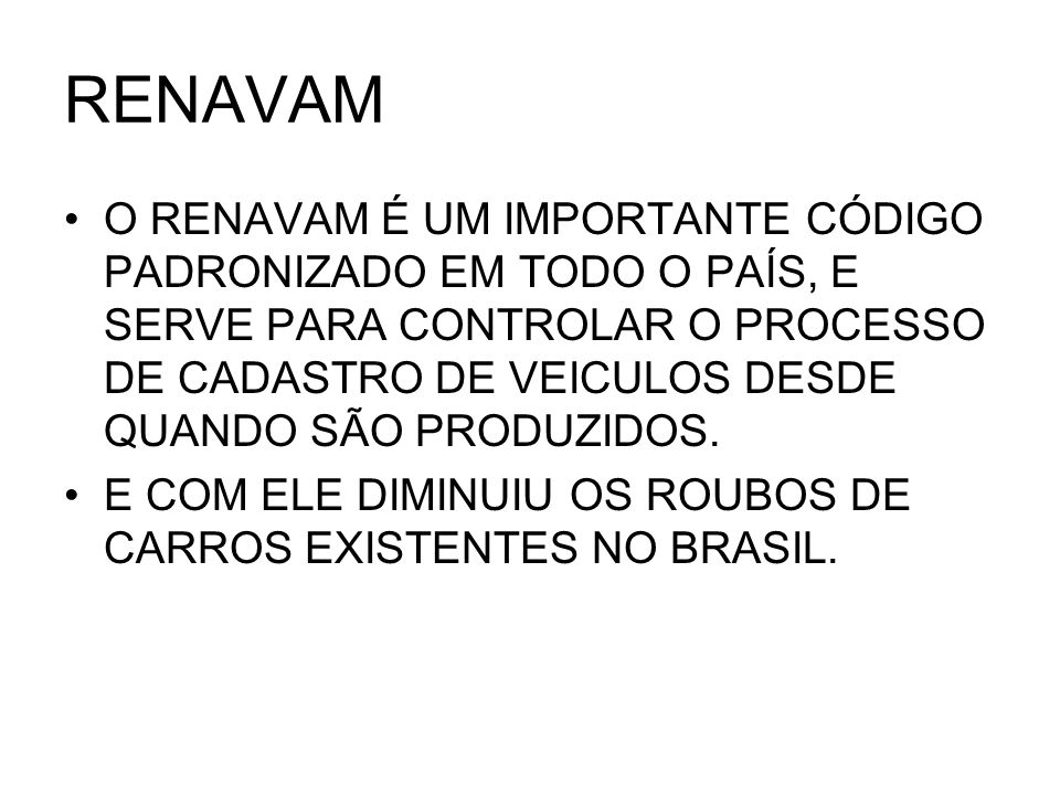 RENAVAM