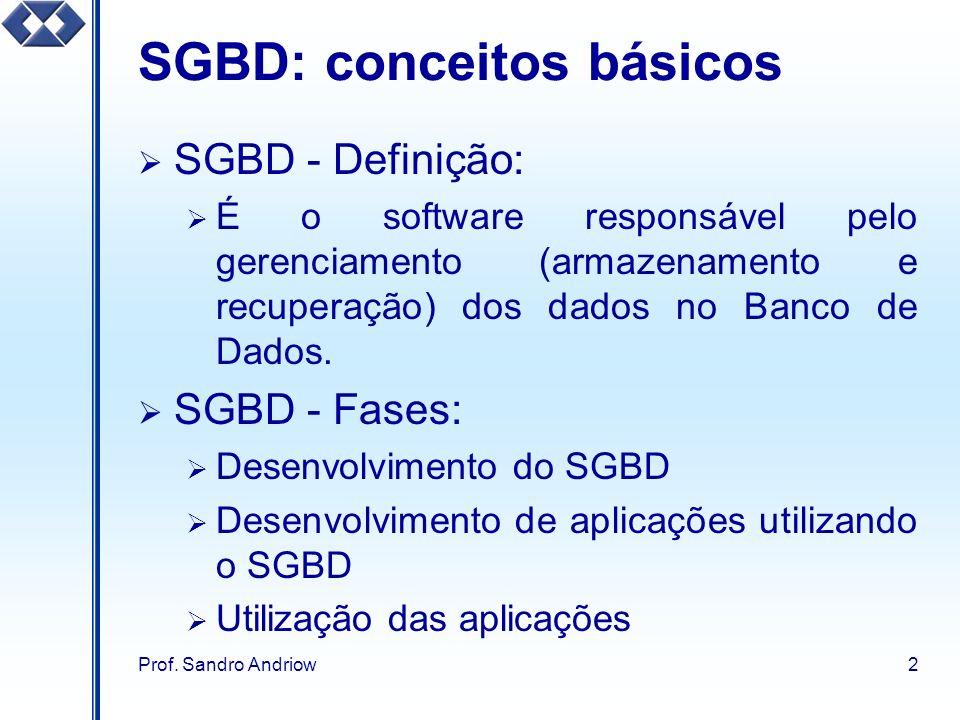 SGBD: conceitos básicos