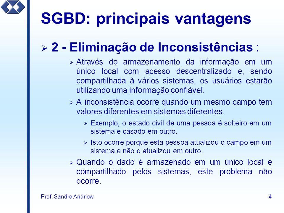 SGBD: principais vantagens