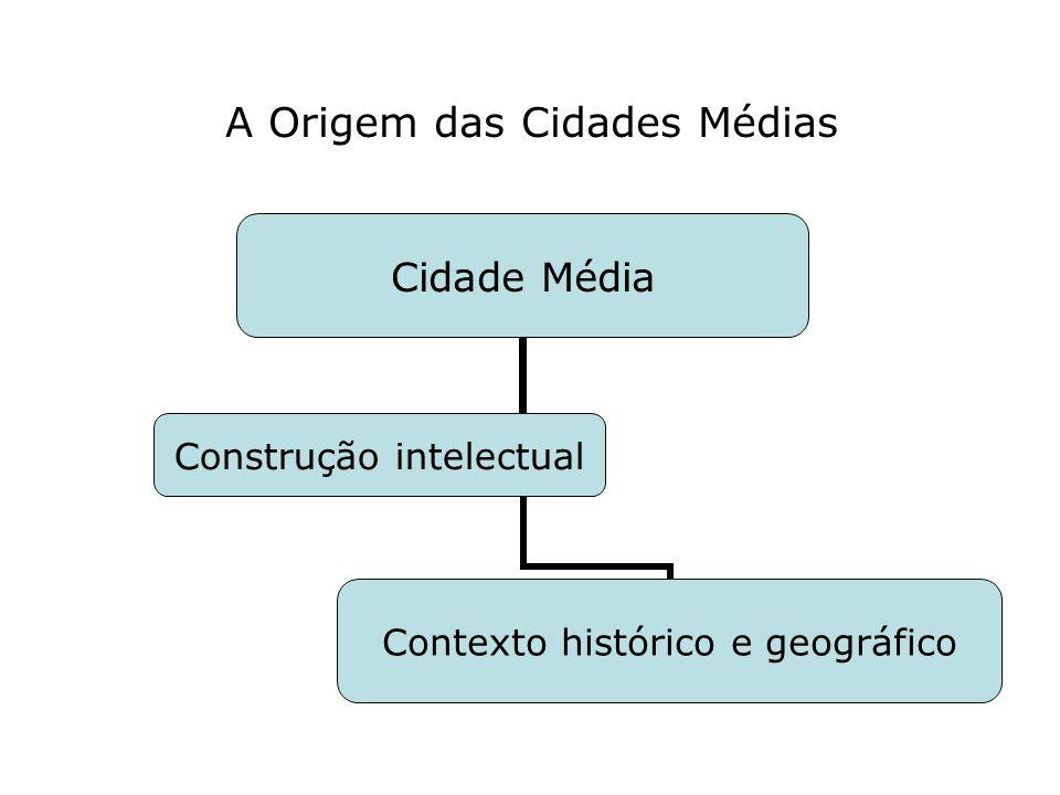 A Origem das Cidades Médias