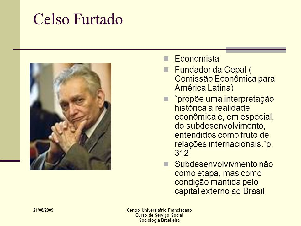 Celso Furtado Economista
