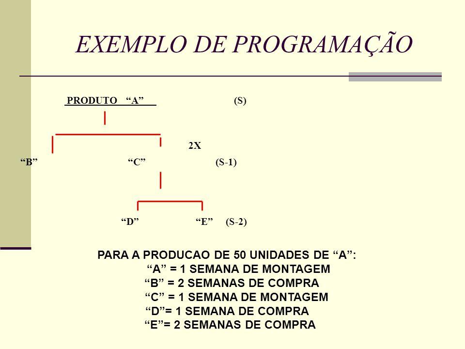EXEMPLO DE PROGRAMAÇÃO