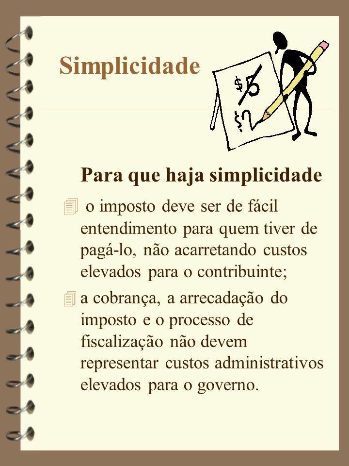 Simplicidade Para que haja simplicidade