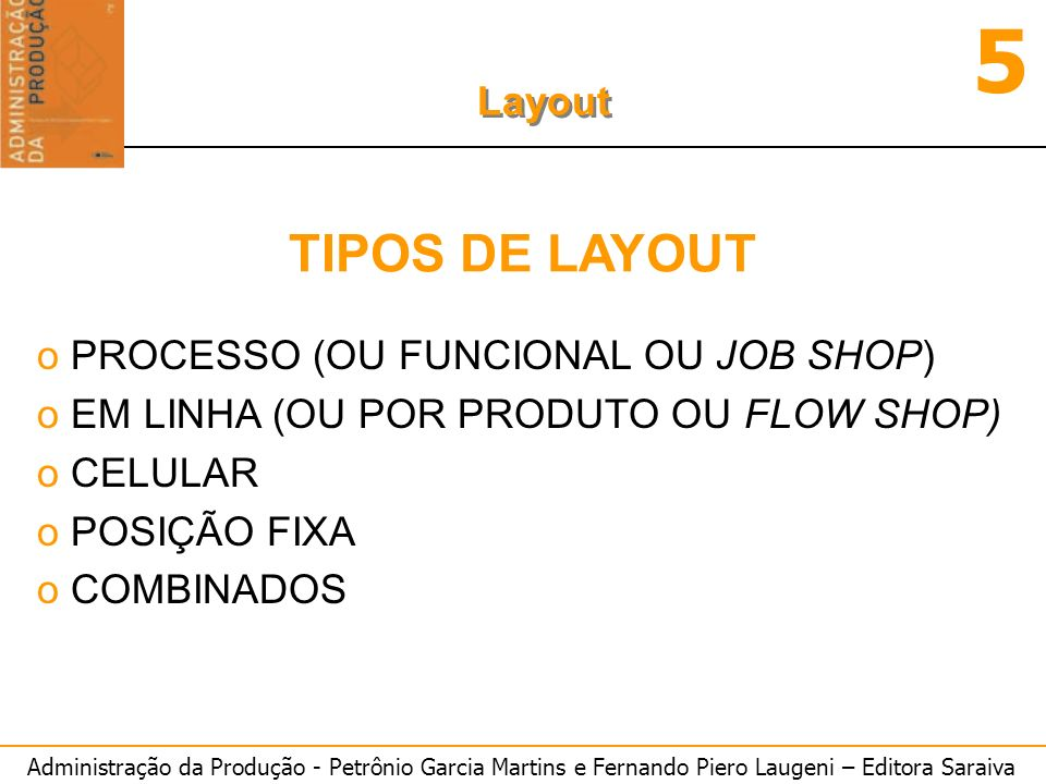 TIPOS DE LAYOUT PROCESSO (OU FUNCIONAL OU JOB SHOP)