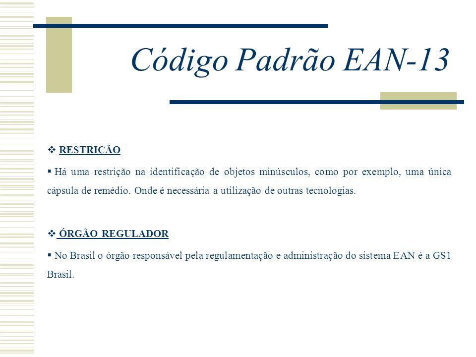 Código Padrão EAN-13 RESTRIÇÃO