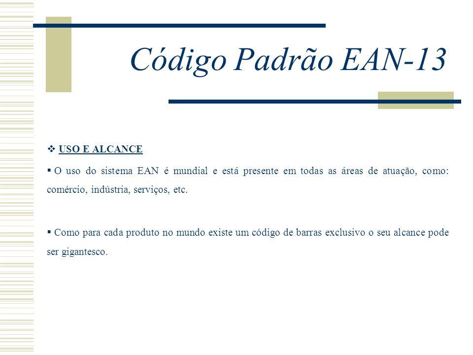 Código Padrão EAN-13 USO E ALCANCE