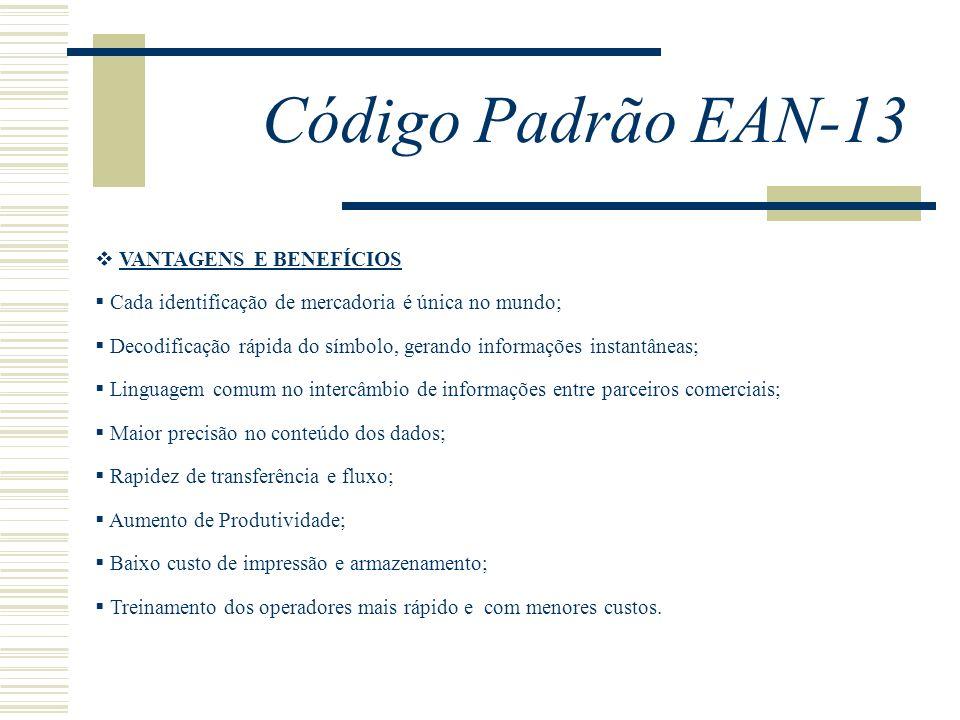 Código Padrão EAN-13 VANTAGENS E BENEFÍCIOS