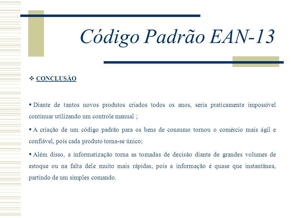 Código Padrão EAN-13 CONCLUSÃO