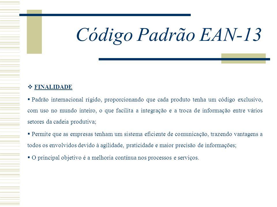 Código Padrão EAN-13 FINALIDADE