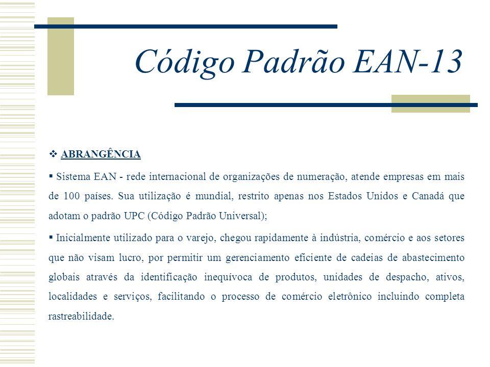 Código Padrão EAN-13 ABRANGÊNCIA