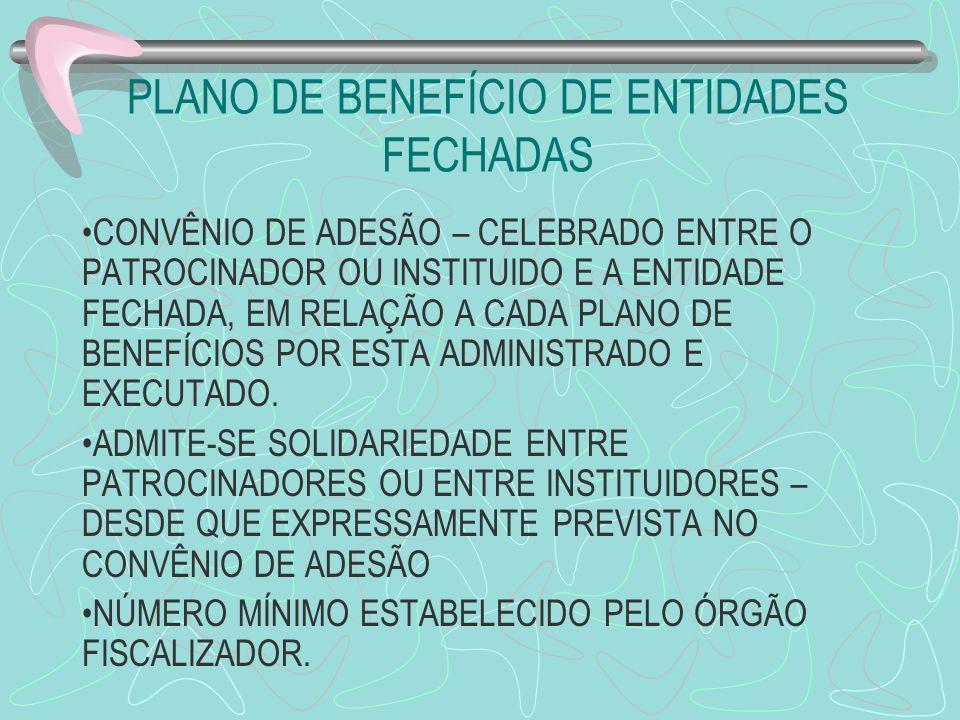 PLANO DE BENEFÍCIO DE ENTIDADES FECHADAS
