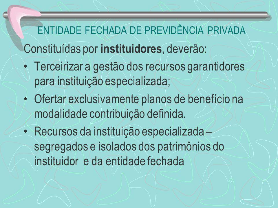 ENTIDADE FECHADA DE PREVIDÊNCIA PRIVADA