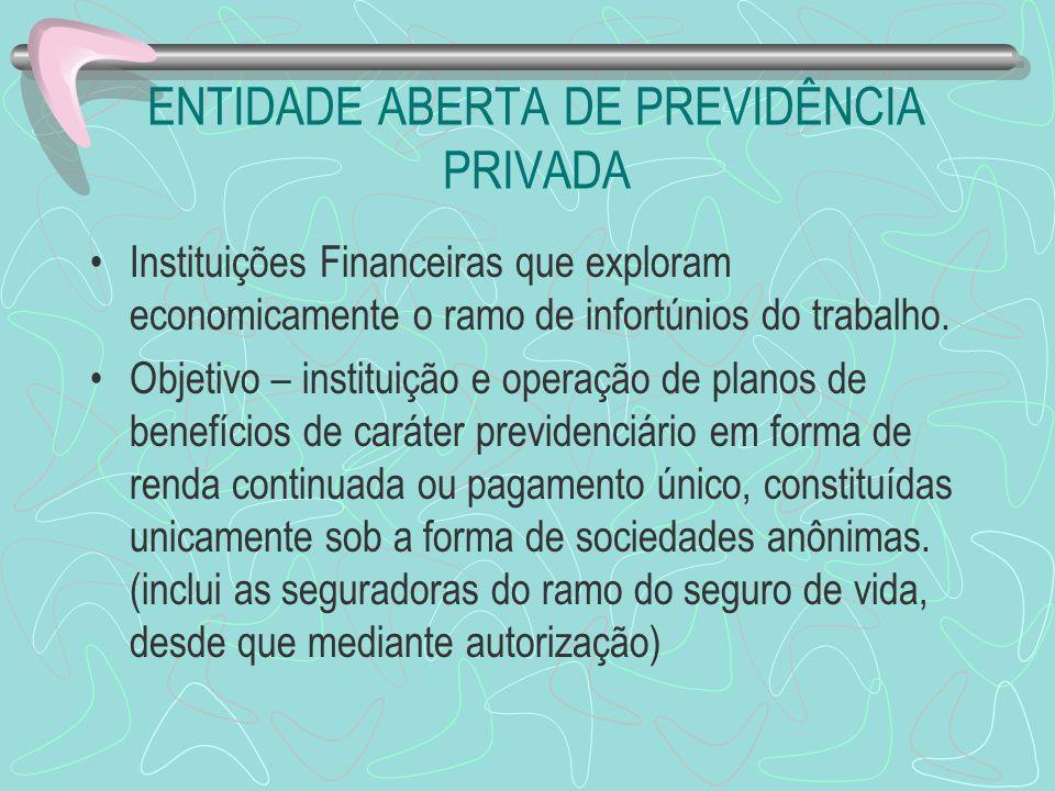 ENTIDADE ABERTA DE PREVIDÊNCIA PRIVADA